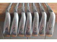 PING i15 IRONS - 4-PW (7) - BLUE DOT - REGULAR STEEL SHAFTS - NEW GRIPS