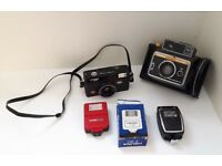 KEYSTONE RAPID SHOT 750, Halina MW 35 Camera, F20 Flash & Agfalux Flash Joblot