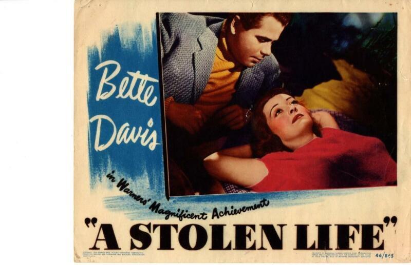 A Stolen Life 1946 Original Release Lobby Card Bette Davis Glenn Ford