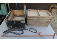Elver Trays, Aluminium Pole and Pole Support (no net available)