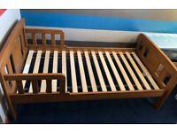 John Lewis 'Boris' Toddler Bed (with mattress and quilt)