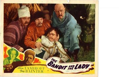 Bandit and the Lady 1945 Re-Release Lobby Card Akim Tamiroff +++