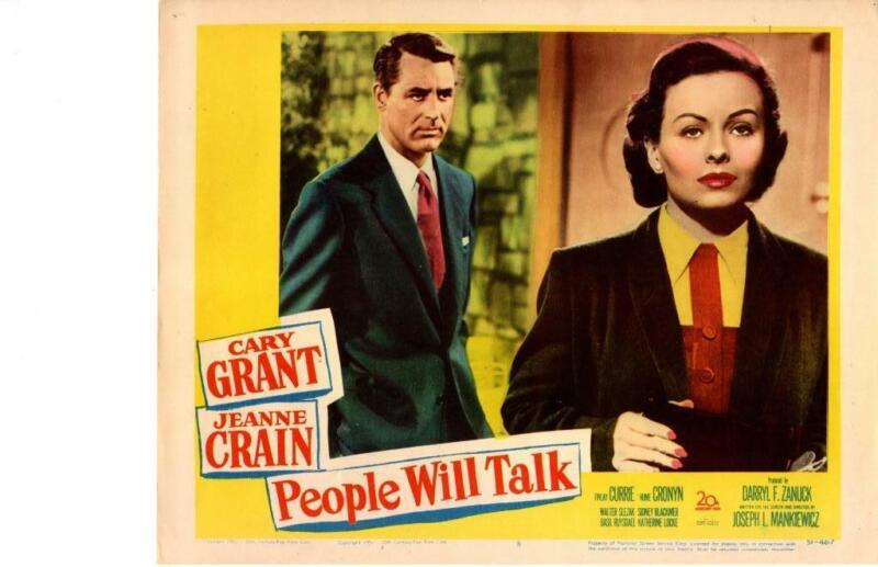 People Will Talk 1951 Original Release Lobby Card Cary Grant Jeanne Crain