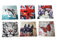 Digital Photo Print Modern Cushion Cover Butterfly, Dolphin, Tiger 45cm x 45cm
