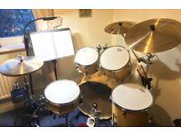 Yamaha Stage Custom Drum Kit Istanbul Soultone cymbals & Ford Organic Bird'sEye Maple Snare 13x5.5