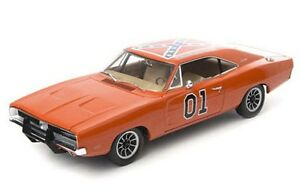 AUTO WORLD AMM964 1969 DODGE CHARGER model car DUKES OF HAZZARD GENERAL LEE 1:18