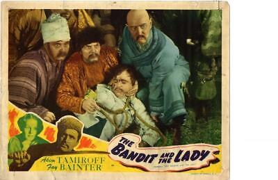 Bandit and the Lady 1945 Re-Release Lobby Card Akim Tamiroff ++++++++