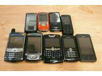 Bundle of old phones