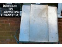 Large Stainless Steel Trays & perhaps trolly (Needs Work)