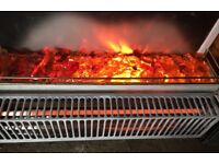 Electric heater with fire simulation for sale