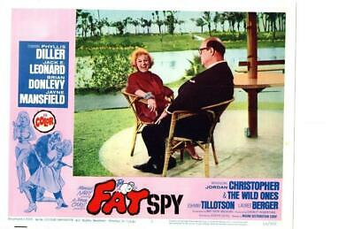 The Fat Spy 1966 Original Release Lobby Card War Phyllis Diller Mansfield ++++