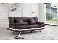 QUALITY LEATHER SOFA BED ONLY £199 RRP £399