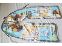 Safe Mesh Cot Liner Breathable baby Bumper zoo / safary