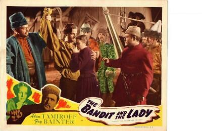 Bandit and the Lady 1945 Re-Release Lobby Card Akim Tamiroff ++++++