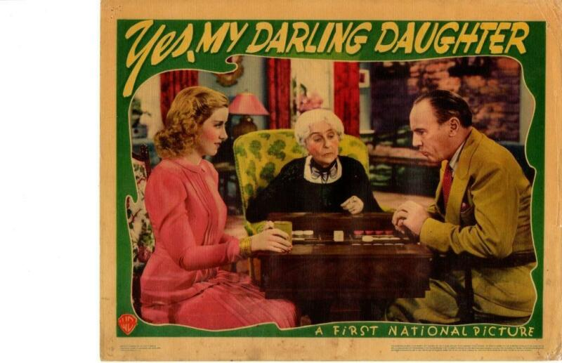 My Darling Daughter 1939 Original Release Lobby Card Priscilla Lane Jeffrey Lynn