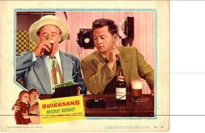 Quicksand 1950 Original Release Lobby Card Noir Mickey Rooney