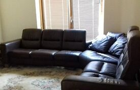 Stressless® Leather Corner Sofa [Collect in Norfolk or Cambridge]