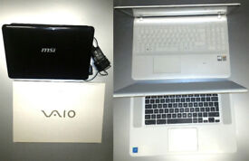 job lot 📞 4 laptops worth investment. ACER SONY VAIO MSI .. selling cheap as relocating 📞 must go