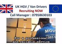 URGENT: Van/Truck Drivers Wanted for 3.5 & 7.5 Tonne - Immediate Start