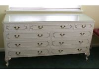 Reproduction Louis XV Chest of Drawers in Antique White