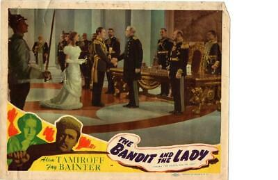 Bandit and the Lady 1945 Re-Release Lobby Card Akim Tamiroff +++++++