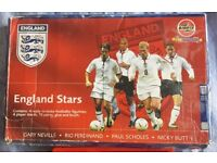 RARE! Boxed and unused Airfix England Football Stars 1/9 Kit: Neville, Ferdinand, Scholes and Butt.
