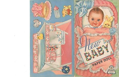 VINTAGE UNCUT 1945 NEW BABY PAPER DOLLS HD~LASER ORG SZ REPRODUCTION~LO PR~HI