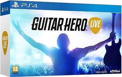 Playstation 4 Boxed GUITAR HERO LIVE Game and Guitar Controller Bundle PS4