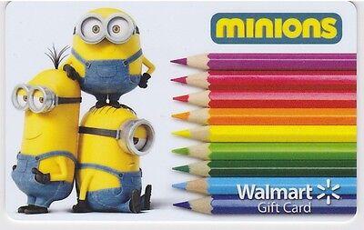 WalMart The Minions Bob Kevin Stuart Colored Pencils 2015 Gift Card FD-47668 - Walmart Minions