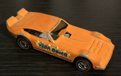 Vintage Hot Wheels Car Redlines Vega Bomb Orange