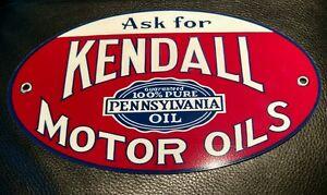 Kendall Motor Oil gasoline sign oval #1