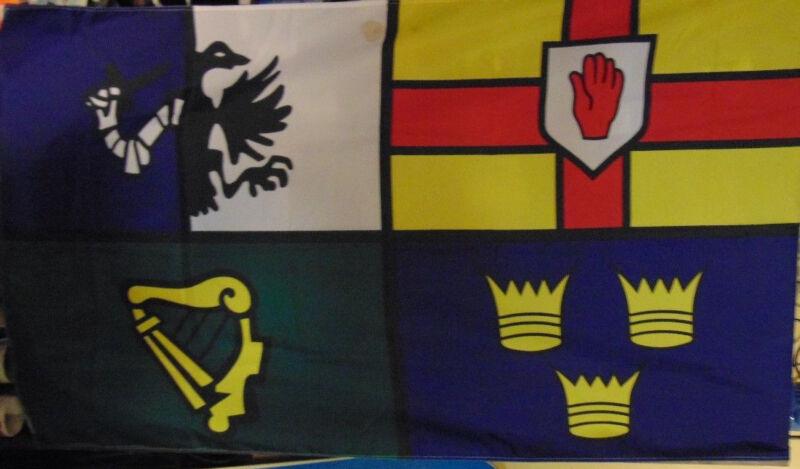Irish flag Four Provinces Ulster Leinster Connacht Munster heritage Ireland