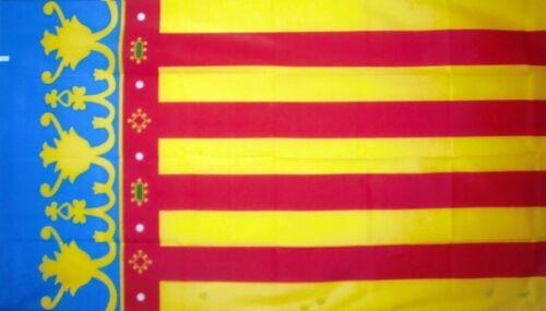 VALENCIA FLAG 5X3 SPAIN SPANISH Valencian flags ESPANA ESPANOL Europe