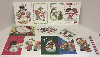 Lot of Christmas Cards Ruth J. Bill D. Morehead Warm & Whimsical Current Catalog ()
