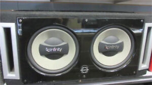 "^** 2 12"" INFINITY SUBS IN BASSWORX BOX DEEP HEAVY BASS!!!"