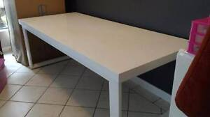 High Gloss White Dining Computer Desk Table LARGE 210CM WIDTH Glenwood Blacktown Area Preview