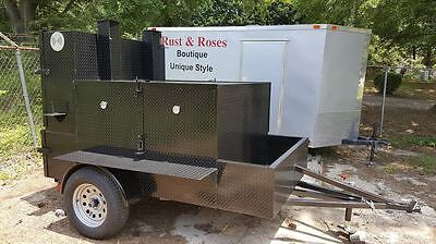 Mega Rib Master Bbq Smoker Trailer Food Truck Concession Street Vendor Business