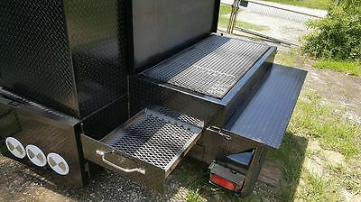 Bbq Smoker Trailer Side Grill Cooker Food Truck Catering Street Vendor Business