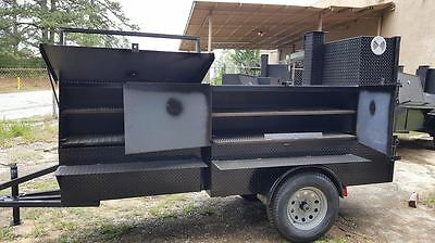 Bbq Pro Ribmaster 5 Foot Barn Door Smoker Jack Wheel 36 Grill Trailer Food Truck