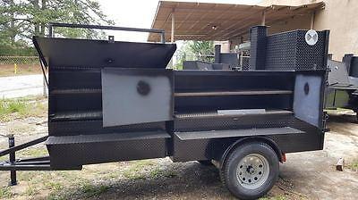 Rib Master Street Vendor Mobile Kitchen Bbq Smoker 30 Grill Trailer Food Truck