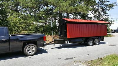 T Rex With Sink Roof Bbq Smoker Cooker Grill Trailer Mobile Food Truck Business