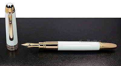 NEW Montblanc Meisterstuck Mozart White Solitaire Mini Fountain Pen (M) 111941