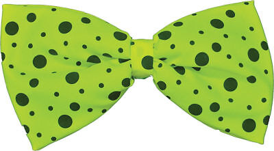Morris Costumes Accessories & Makeup Comical Clown Lime Green Bow Tie. BB333GR - Clown Costumes Accessories