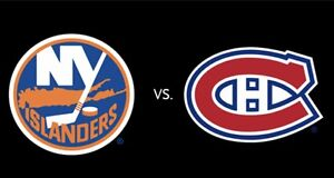 3 tickets section 114 Montreal vs New York Islanders