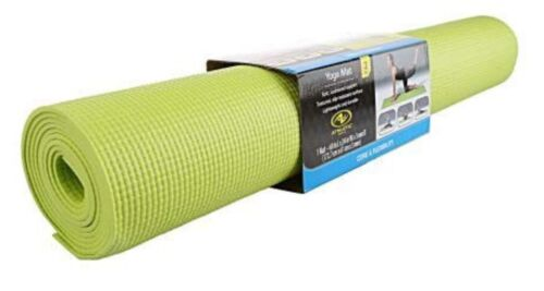 Athletic Works Yoga Mat/ Lime Green Three mm  *PRIORITY SHIPPING*