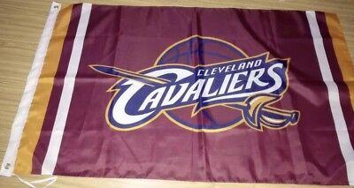 5' Outdoor Indoor Banner (Cleveland Cavaliers Indoor / Outdoor 3x5 Feet Flag Banner Man Cave Basketball)