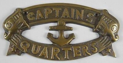 Nautical Signs (CAPTAINS QUARTERS Sign Nautical Plaque Ship Boat Captain Signs Wall)