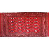 "C 1950 Khorassan Baluch Antique Persian Exquisite Hand Made Rug 1' 8"" x 3' 3"""