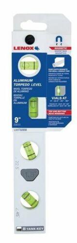 """Lenox Magnetic 9"""" Torpedo Level, 4 Vials Billet Aluminum ( LXHT82658 ) Brand NEW"""