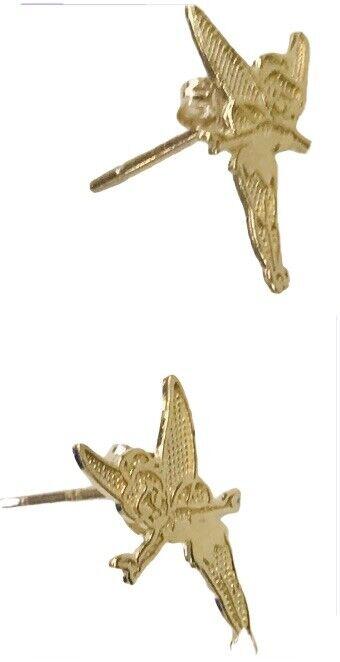 Walt Disney Tinkerbell 14K Gold Earrings 585